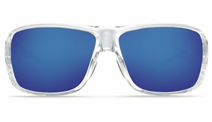 Costa Double Haul Sunglasses: Crystal / Blue Mirror - MFG#DH-39-BMGLP