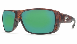 Costa Double Haul Sunglasses: Tortoise / Green Mirror - MFG#DH-10-GMGLP