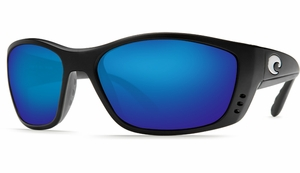 Costa Fisch Sunglasses: Black / Blue Mirror - MFG#FS-11-BMGLP