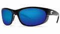 Costa 580 Howler Sunglasses: Black / Blue Mirror - MFG#HO-11-OBMGLP