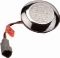 "Sea-Dog 3 1/8"" Red/White LED Courtesy Light with Chrome Finish - 401655-1"