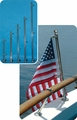 """30"""" Stainless Steel Flag Pole w/base MFG#904"""