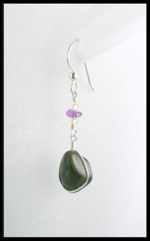 Dark River Stone Earrings