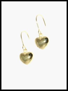 Shiny Puffy Gold Hearts