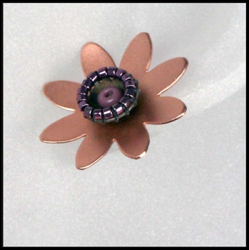 Rose Gold Lotus Flower Post Earrings