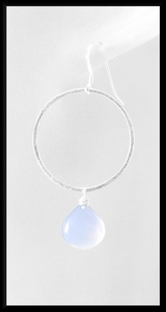 Chalcedony Hoop Earrings
