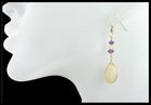 Beach Stone Earrings with Amethyst and Topaz