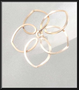 14-Karat Wire Flower Post Earrings