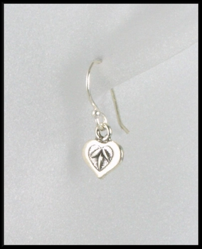 Petite Leafy Heart Drop Earrings
