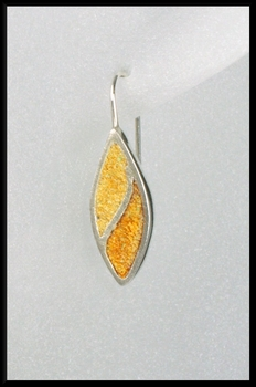 Terrazzo Tea Leaf Earrings in Yellow