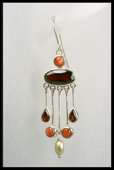Garnet Shower Earrings