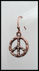 Copper and Rhinestone Peace Earring