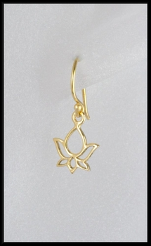 Petite Lotus Earrings