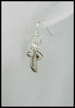 Imagine Peace Charm Earrings