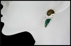 Ammonite and Chrysocolla Post Earrings