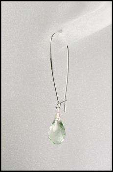 Prasiolite Briolette Drop Earrings