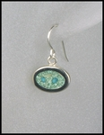 Terrazzo Oval Drop Earrings in Aqua
