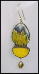 Lemon Drusy with Prudent Man Agate Earrings