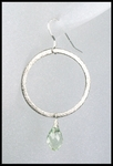 Prasiolite Oxidized Sterling Silver Circle Earrings
