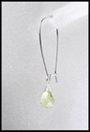 Lemon  Quartz Briolette Drop Earrings