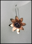 Large Lotus Flower Earrings with Shorter Wire