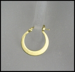 Matte Flat Hoop Earrings in 18K Gold Vermeil