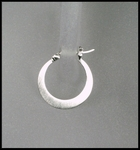 Matte Flat Hoop Earrings in Sterling Silver