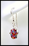 Millefiori (1000 flowers) Hamsa Earrings