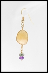 Riverstone Amethyst and Tourmaline Drop Earrings