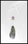 River Stone Peridot Amethyst and Tourmaline Earrings