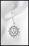 Love Medallion Earrings