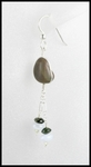 River Stone and Chalcedony Dangle Earrings