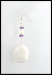 Beach Stone and Pearl Earrings