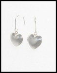 Shiny Sterling Silver Puffy Hearts