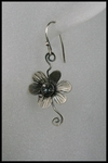 Sterling Silver Flower Swirl Earrings