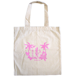 "<font color=""#ff0000"">Back in stock! </font><br> Eco Bag <br>Island Girl</br>"