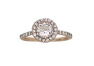 14K Rose Gold 1.34 ct Morganite Diamond Ring