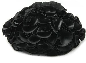 Flower Black Evening Bag by Fornash