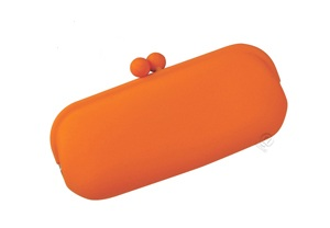 Orange Eyeglass Case in Silicone by Koala