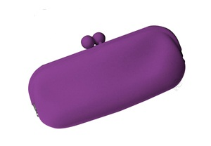 Purple Eyeglass Case in Silicone by Koala