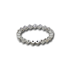1/10 Carat White Gold Anniversary Band Stackable Set-Diamond Ring