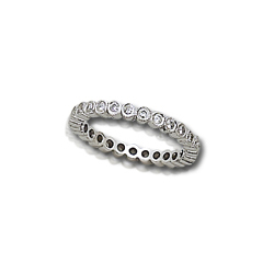 1/2 Carat White Gold Bezel-set Diamond Ring Guard