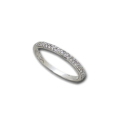1/2 Carat White Gold Diamond Eternity Band