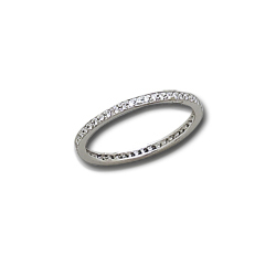 1/4 Carat White Gold Diamond Channel Set Anniversary Band