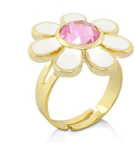 Lauren G Adams Little Girls Daisy Ring in White