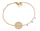 Rose Gold and Diamond Smile Face Bracelet