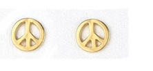 Peace Sign Earrings Dogeared  Gold Dipped