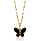 Black Enamel Butterfly Pendant for Little Girls by Lauren G Adams