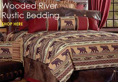 Rustic Bedding by Wooded River