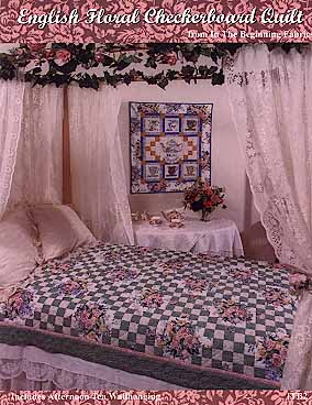 English Floral Check Quilt Pattern